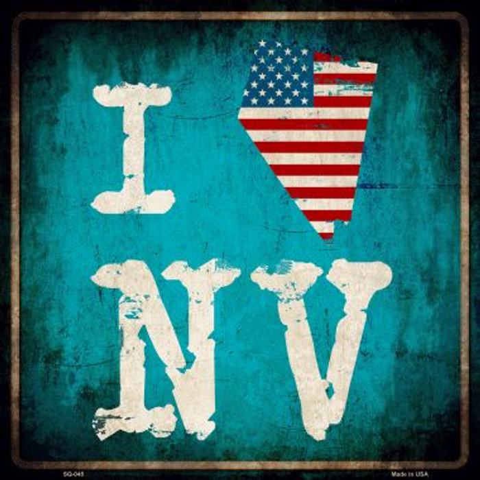 I Love Nevada Wholesale Novelty Metal Square Sign