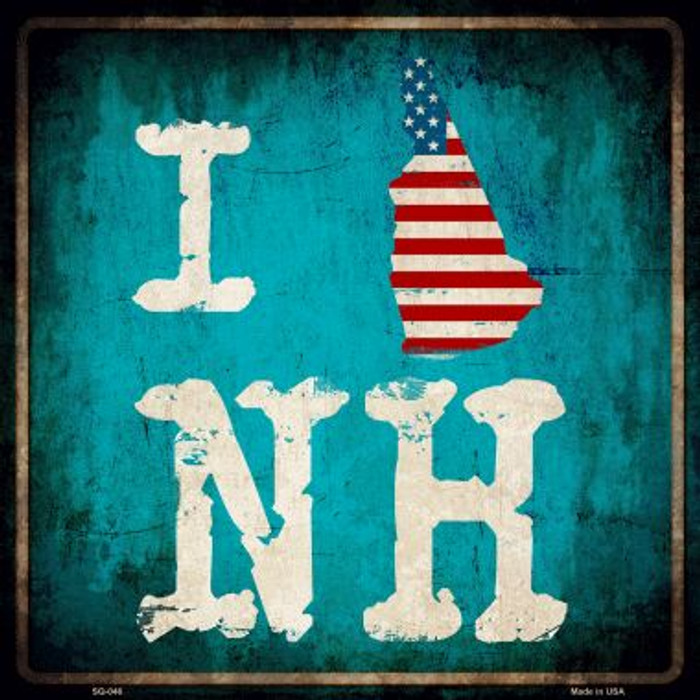 I Love New Hampshire Wholesale Novelty Metal Square Sign