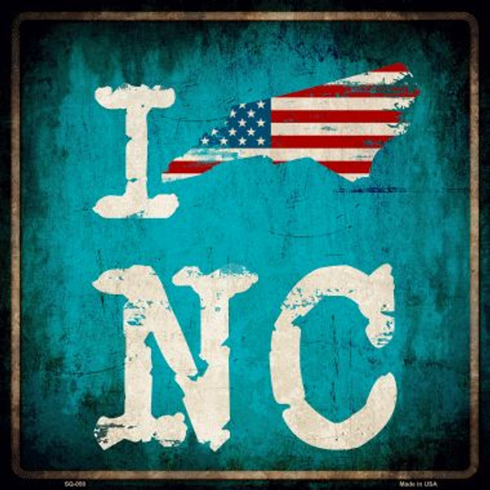 I Love North Carolina Wholesale Novelty Metal Square Sign