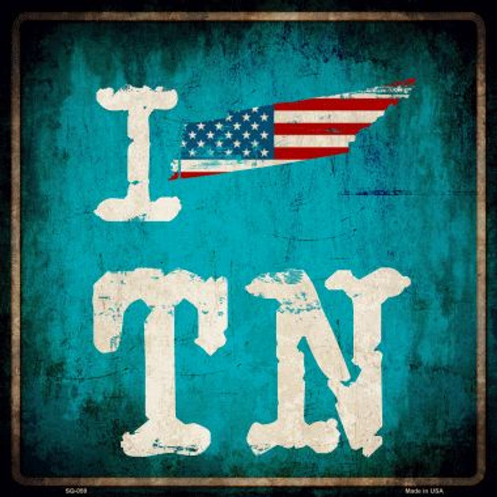 I Love Tennessee Wholesale Novelty Metal Square Sign