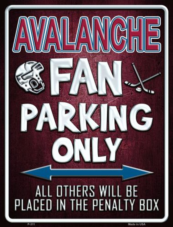 Avalanche Wholesale Metal Novelty Parking Sign