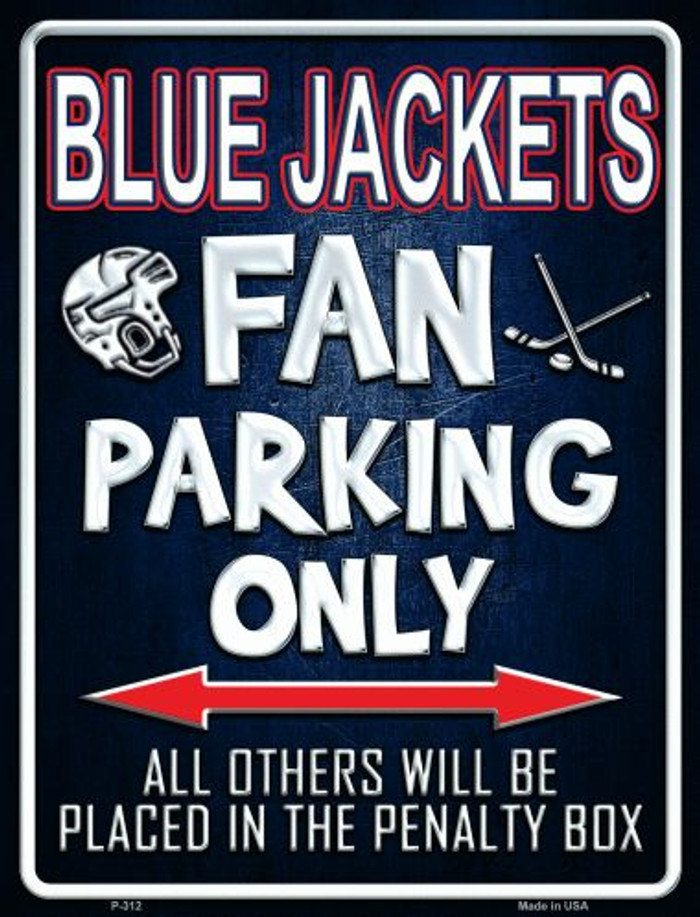 Blue Jackets Wholesale Metal Novelty Parking Sign