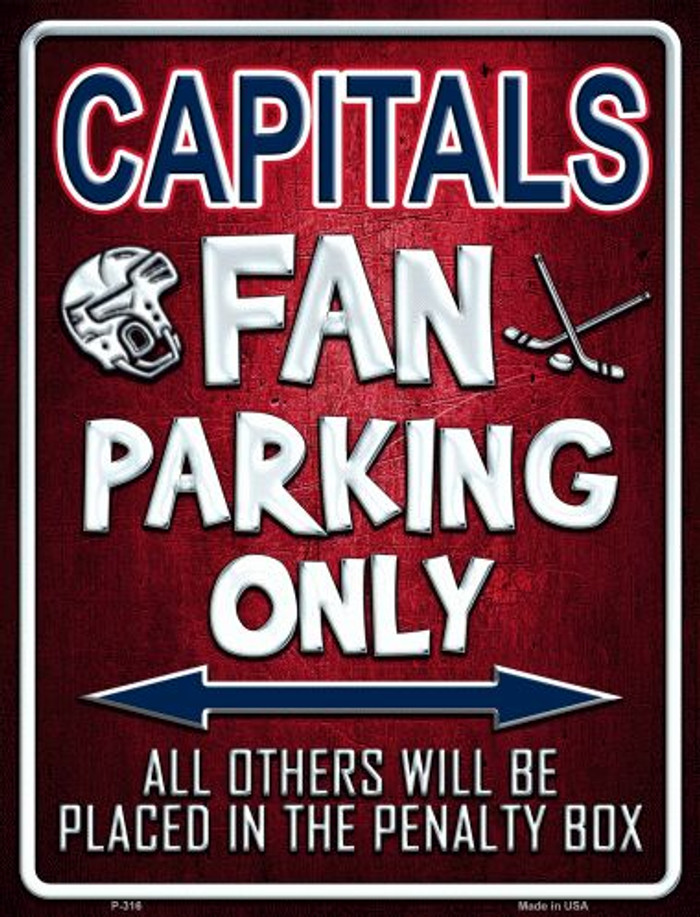 Capitals Wholesale Metal Novelty Parking Sign