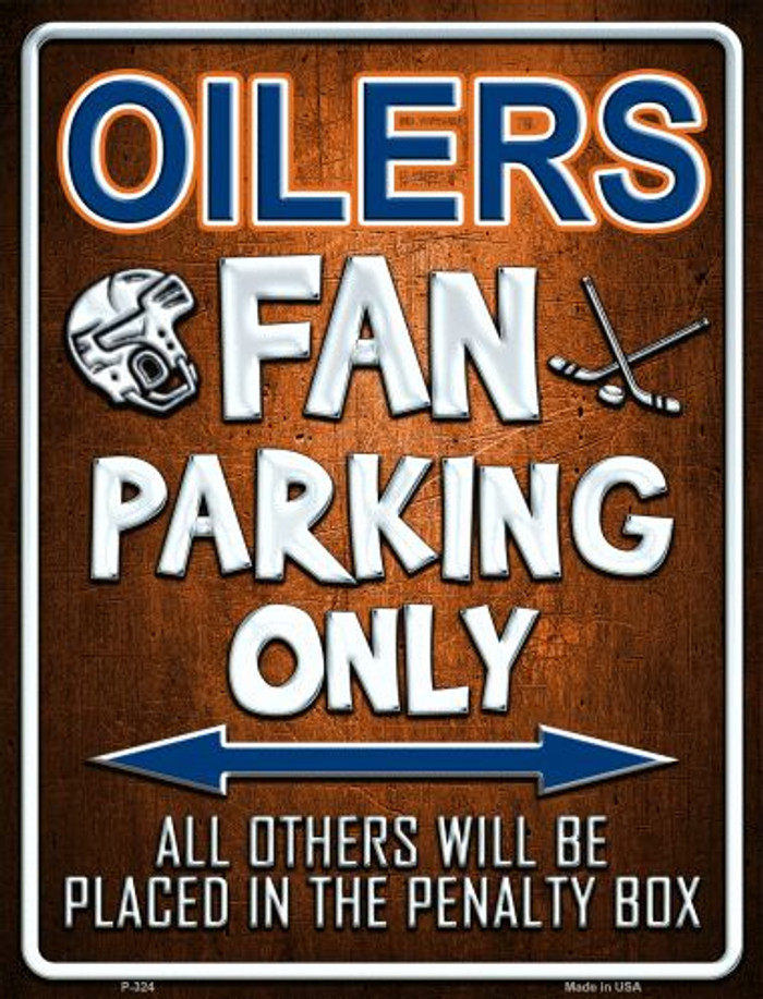 Oilers Wholesale Metal Novelty Parking Sign