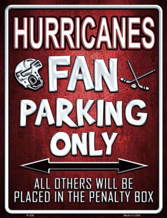 Hurricanes Wholesale Metal Novelty Parking Sign
