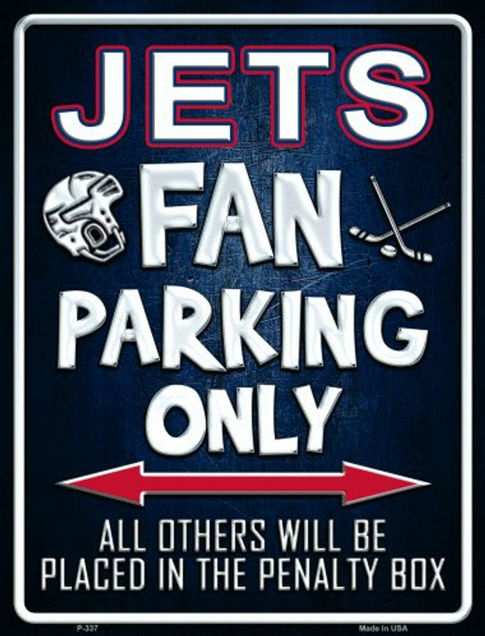 Jets Wholesale Metal Novelty Parking Sign