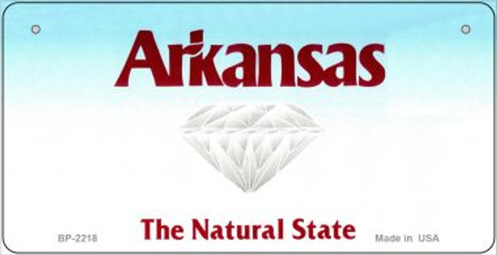 Arkansas State Background Novelty Bicycle License Plate