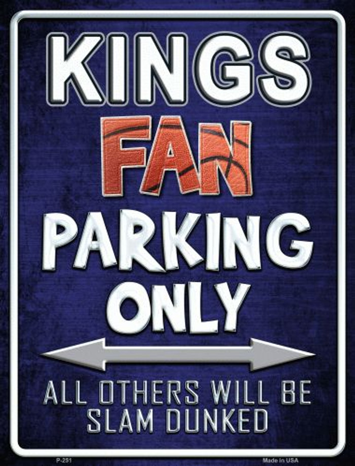 Kings Wholesale Metal Novelty Parking Sign