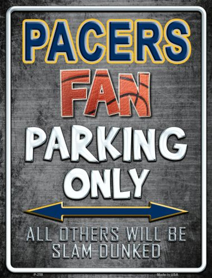 Pacers Wholesale Metal Novelty Parking Sign