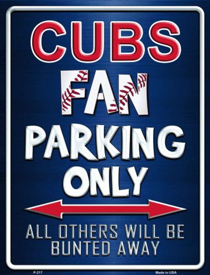 Cubs Wholesale Metal Novelty Parking Sign