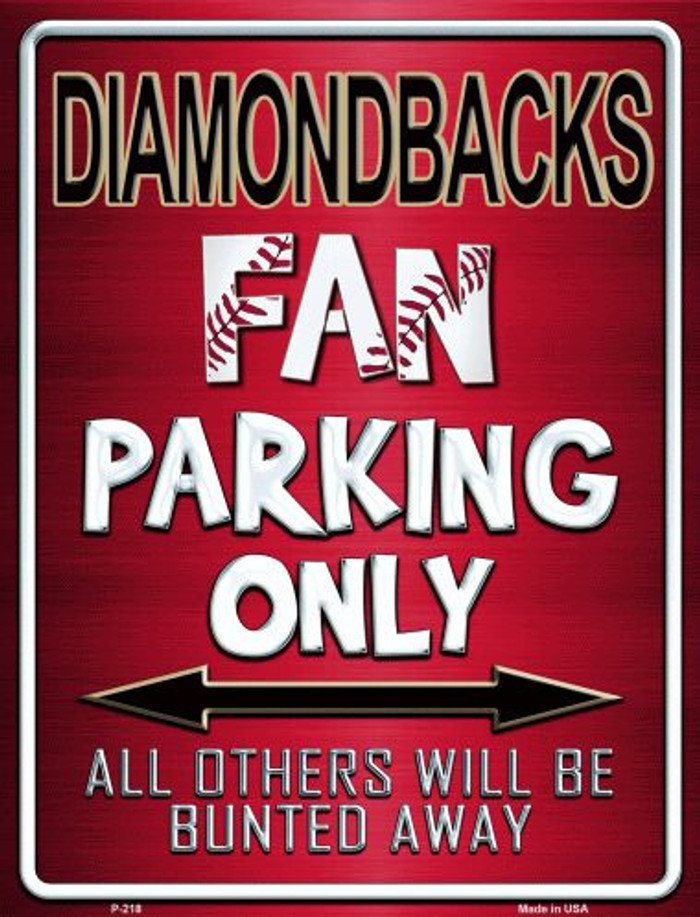 Diamondbacks Wholesale Metal Novelty Parking Sign