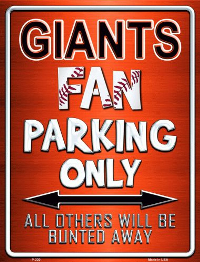 Giants Wholesale Metal Novelty Parking Sign