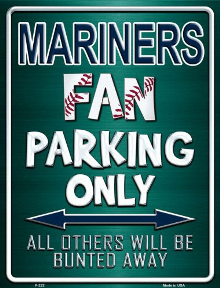 Mariners Wholesale Metal Novelty Parking Sign
