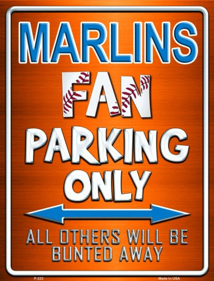 Marlins Wholesale Metal Novelty Parking Sign