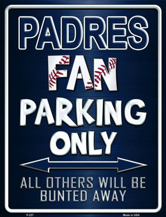Padres Wholesale Metal Novelty Parking Sign