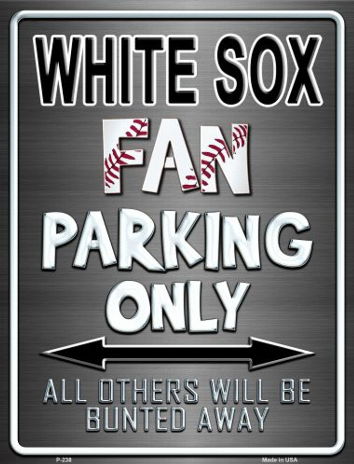 White Sox Wholesale Metal Novelty Parking Sign