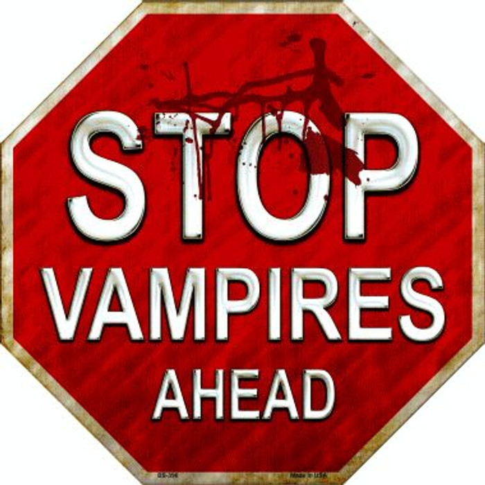 Stop Vampires Ahead Wholesale Metal Novelty Stop Sign
