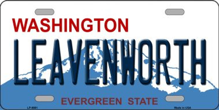 Leavenworth Washington Background Wholesale Metal Novelty License Plate