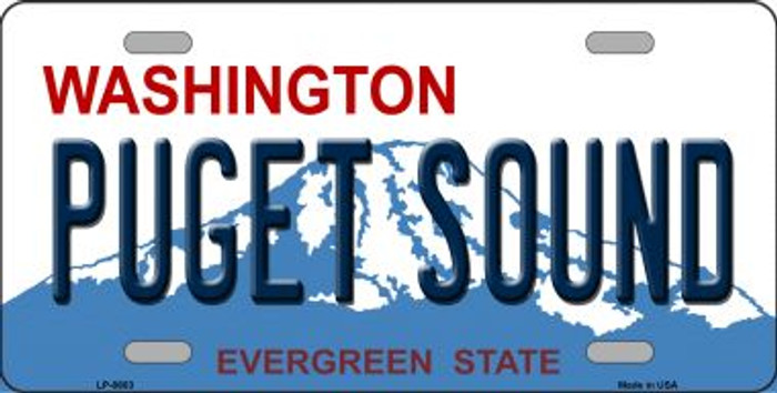 Puget Sound Washington Background Wholesale Metal Novelty License Plate