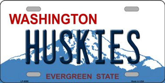 Huskies Washington Background Wholesale Metal Novelty License Plate