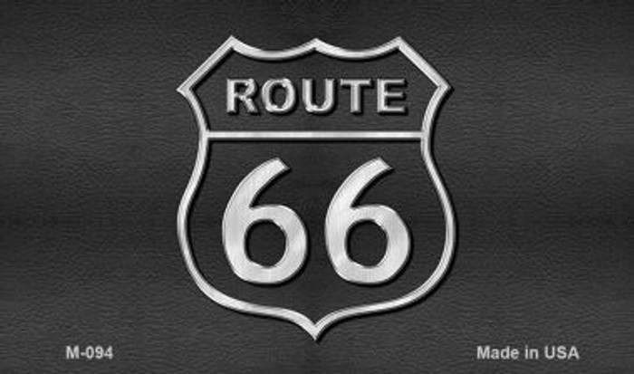 Route 66 Shield Black Wholesale Novelty Metal Magnet