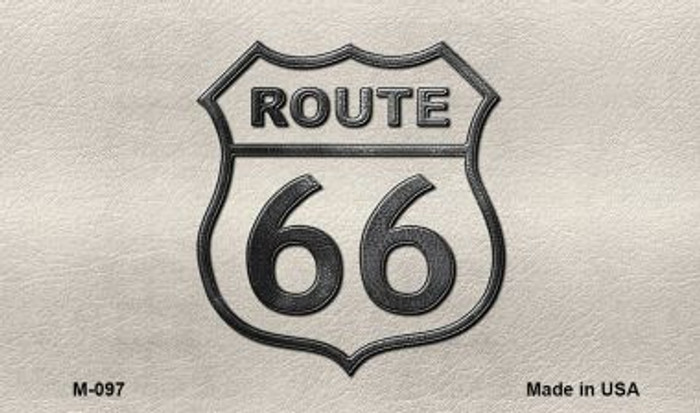 Route 66 Shield White Wholesale Novelty Metal Magnet