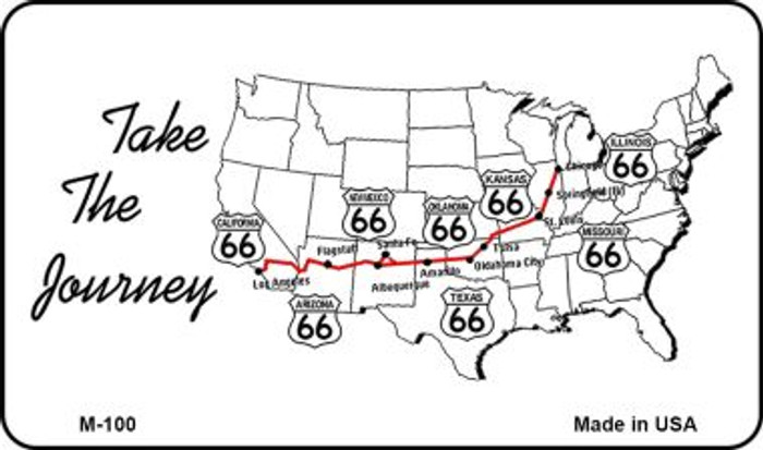 Route 66 Take The Journey Wholesale Novelty Metal Magnet