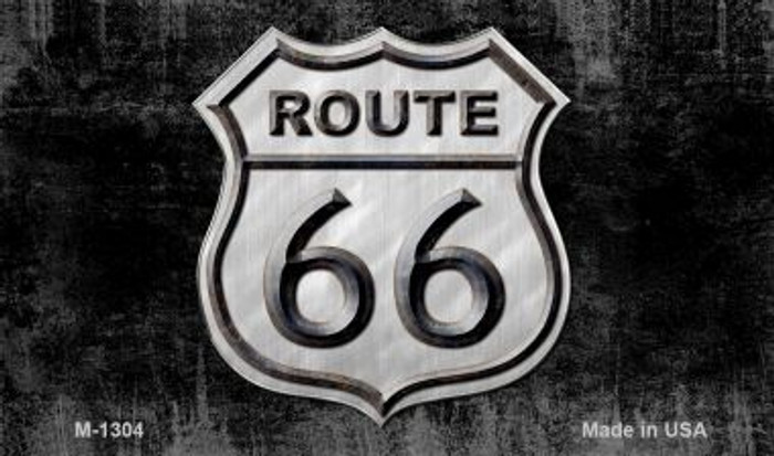Route 66 Shield Vintage On Black Wholesale Novelty Metal Magnet