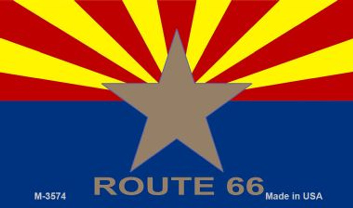 AZ Flag With Route 66 Wholesale Novelty Metal Magnet