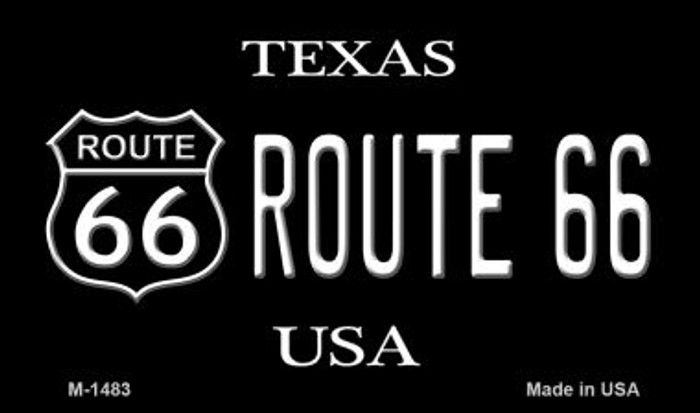 Route 66 Shield Texas Wholesale Novelty Metal Magnet