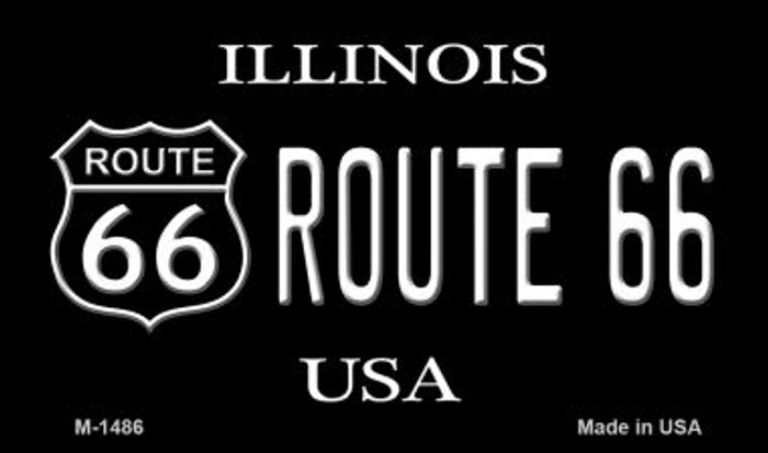 Route 66 Shield Illinois Wholesale Novelty Metal Magnet