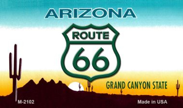Route 66 On Arizona Background Wholesale Novelty Metal Magnet