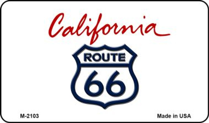 Route 66 On California Background Wholesale Novelty Metal Magnet