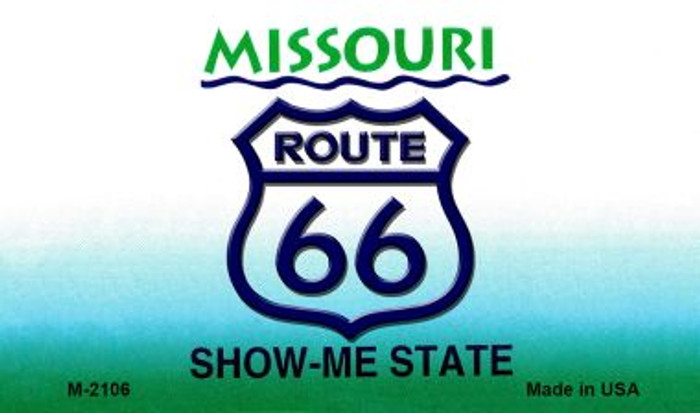Route 66 On Missouri Background Wholesale Novelty Metal Magnet