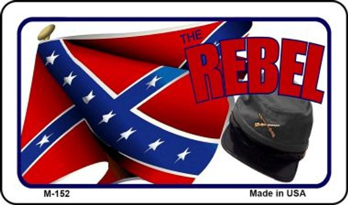 Rebel Cap And Confederate Flag Wholesale Novelty Metal Magnet