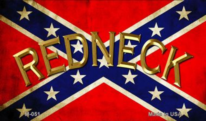 Confederate Redneck Wholesale Novelty Metal Magnet