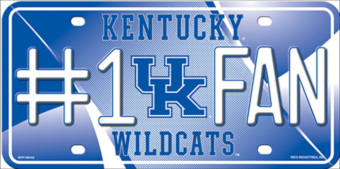 Kentucky Wildcats Fan Novelty Wholesale Metal License Plate LP-5584