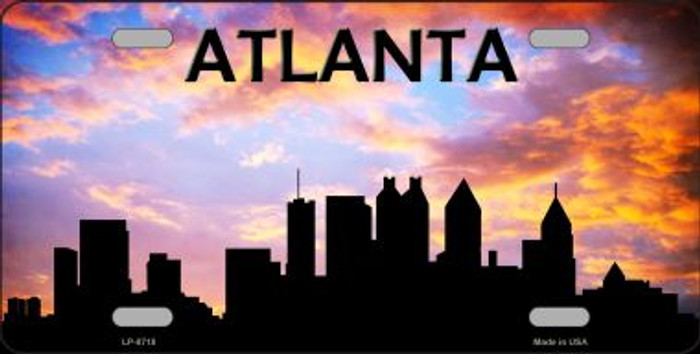 Atlanta Silhouette Wholesale Metal Novelty License Plate