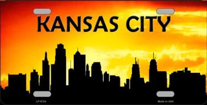Kansas City Silhouette Wholesale Metal Novelty License Plate