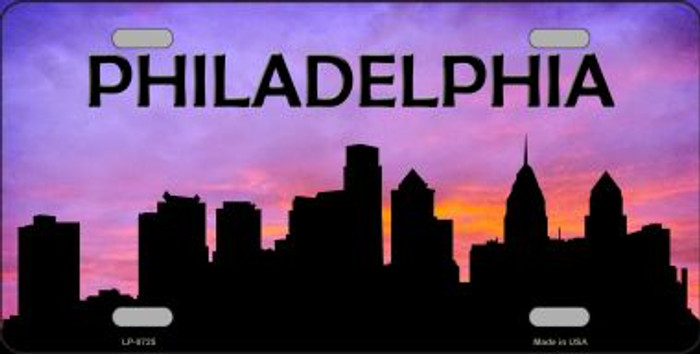 Philadelphia Silhouette Wholesale Metal Novelty License Plate