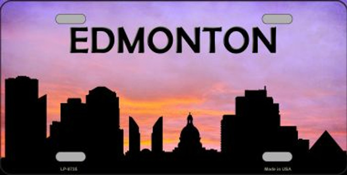 Edmonton Silhouette Wholesale Metal Novelty License Plate