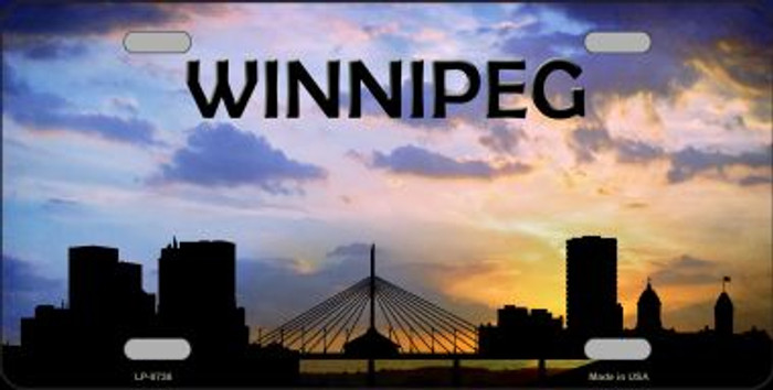 Winnipeg Silhouette Wholesale Metal Novelty License Plate