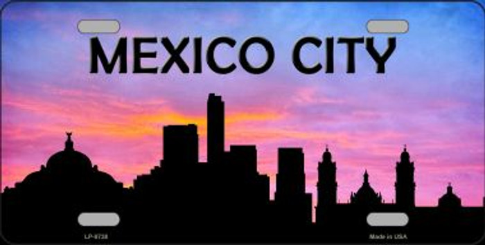 Mexico City Silhouette Wholesale Metal Novelty License Plate