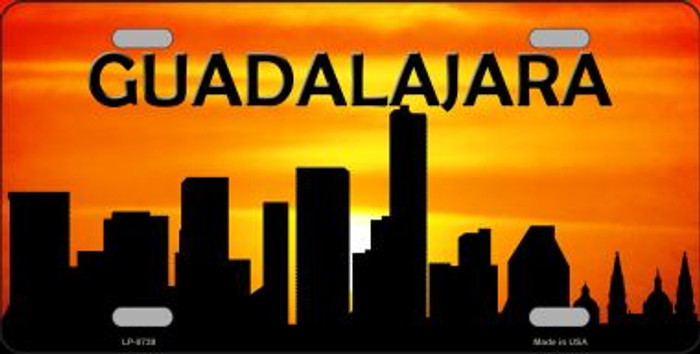 Guadalajara Silhouette Wholesale Metal Novelty License Plate