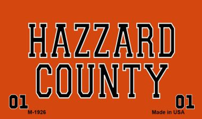 Hazzard County Wholesale Novelty Metal Magnet