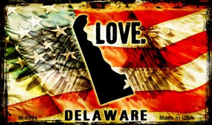 Love Delaware Wholesale Novelty Metal Magnet