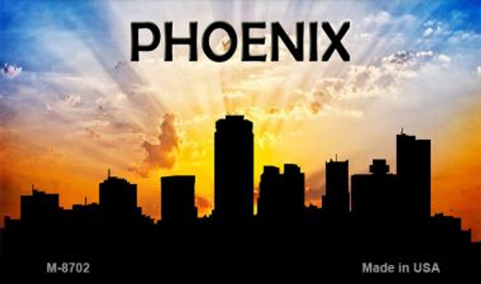 Phoenix Silhouette Wholesale Novelty Metal Magnet