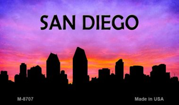 San Diego Silhouette Wholesale Novelty Metal Magnet