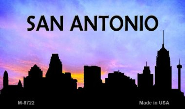 San Antonio Silhouette Wholesale Novelty Metal Magnet