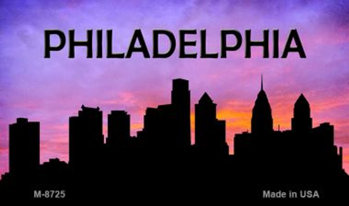 Philadelphia Silhouette Wholesale Novelty Metal Magnet